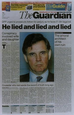10 best newspaper scoops: Guardian, 1995