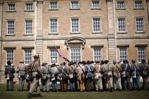 American civil war: American civil war re-enactment in Yorkshire