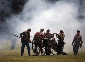 American civil war: American cicil war re-enactment in Yorkshire