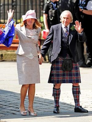 Royal wedding: Sir Jackie Stewart