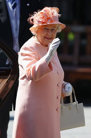 Royal wedding: Queen Elizabeth II