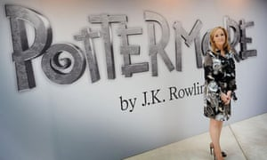 Harry Potter creator JK Rowling launching the Pottermore website