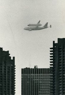 Space shuttle over Barbican