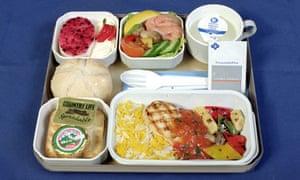 Airline food: Cyprus Airways hot meal