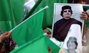 A pro-Gaddafi rally