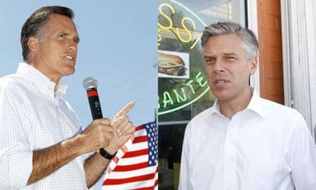 Mormon candidates Mitt Romney and Jon Huntsman