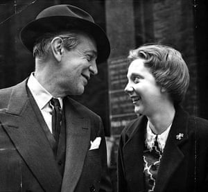 Anna Massey: 1955: Actress Anna Massey with her father the actor Raymond Massey