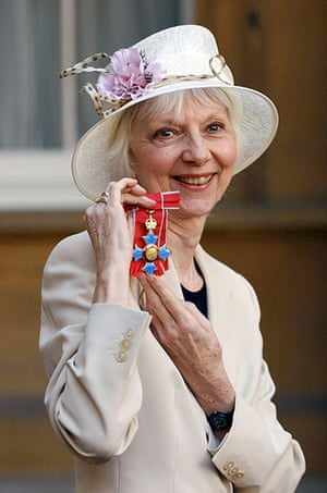Anna Massey: 2005: Anna Massey with her CBE medal after her investiture