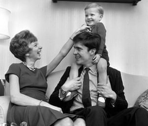 Anna Massey: 1962: Anna Massey with husband Jeremy Brett and their young son in Chelsea