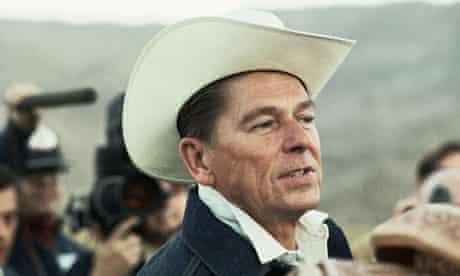 Ronald Reagan Wearing Cowboy Hat