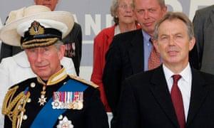 Prince Charles and Tony Blair