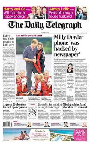 Milly Dowler Hacking: Telegraph 5 July