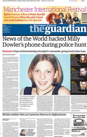 Milly Dowler Hacking: The Guardian