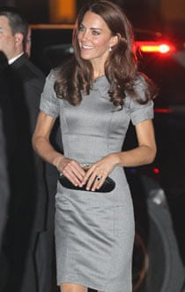 Catherine, Duchess of Cambridge in a grey dress