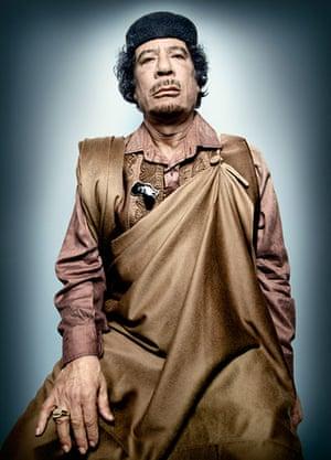 Platon power portraits: Muammar Gaddafi
