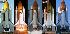 Space Shuttle: Composite of five Space Shuttles