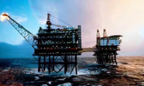 North Sea oil rigs