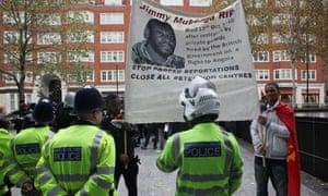 London protest over deportee Jimmy Mubenga