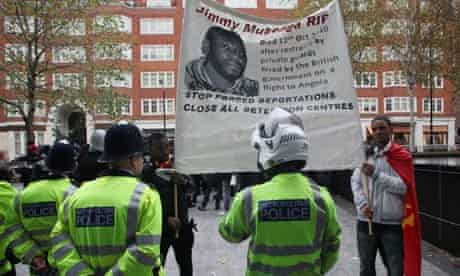 London protest over deportee Jimmy Mubenga