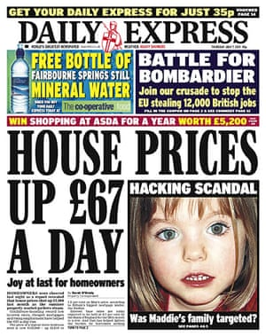 Hacking fronts 7 July: Daily Express