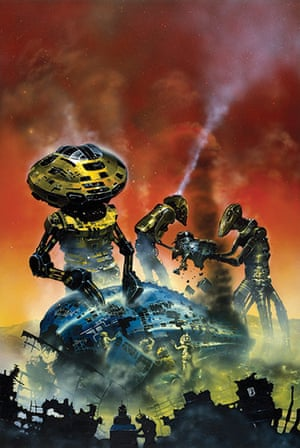 Chris Foss: Painting of Robots and Empire