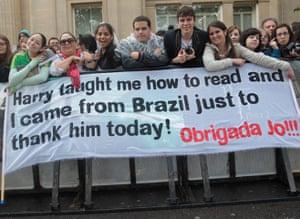 Harry Potter 8 premiere: Harry Potter fans from Brazil