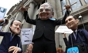 Protests Rupert Murdoch BSkyB