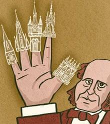 Sir George Gilbert Scott illustration by Satoshi Kambayashi