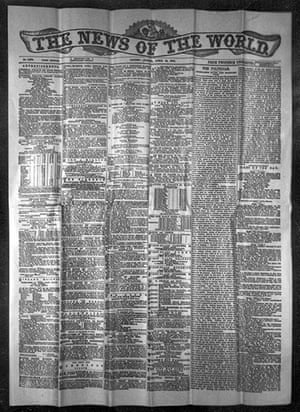 News of The World History: The first front page of the News of the World