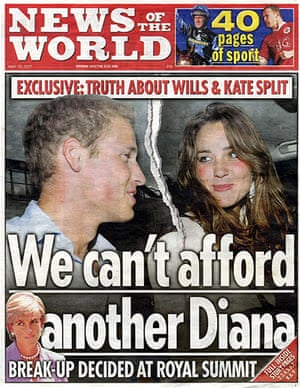 News of the World Update: Prince William and Kate Middleton split