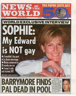 News of the World Update: News Of The World featuring comments made by Sophie Countess Of Wessex