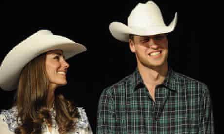 The Duke And Duchess Of Cambridge in Calgary