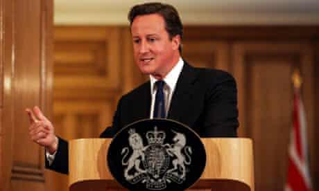 David Cameron speaks about phone hacking