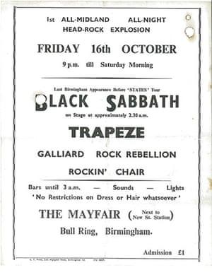 Home of Metal: Black Sabbath poster