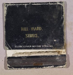 Home of Metal: Bill Ward book of matches