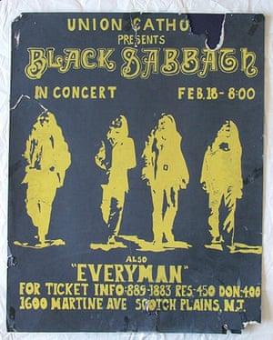 Home of Metal: Black Sabbath poster.