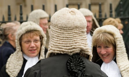 Judges in wigs and gowns