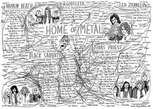 Home of Metal: Heavy metal family tree
