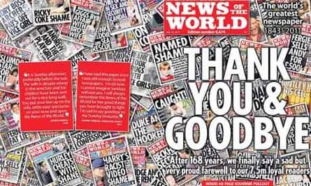 News of the World newspaper