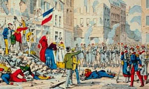 Lithograph of the end of the Paris Commune