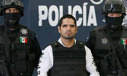 Juarez cartel enforcer Jose Antonio Acosta Hernandez, 33, paraded before the media in Mexico City