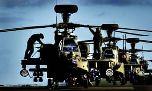 Apache attack helicopters at RAF Leuchars in Scotland, which has been earmarked for closure