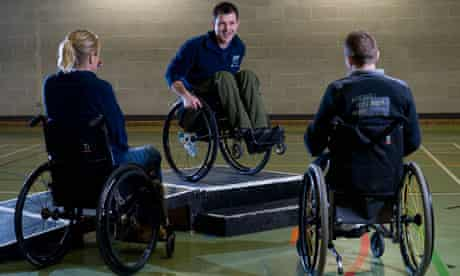 Tim Rushby-Smith teaching wheelchair skills for the Back Up Trust