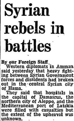 Hama uprising in 1982