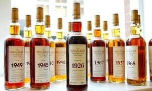 whiskey bottles one