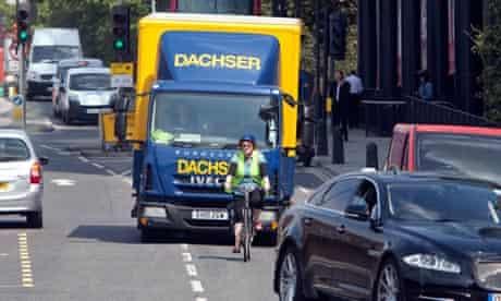 Cyclist 'taking the lane'