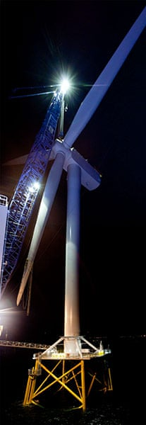 Ormonde wind farm: The completed wind turbine