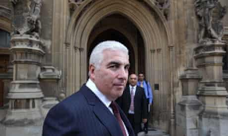 Mitch Winehouse outside Parliament