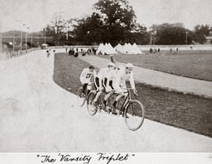 Herne Hill Velodrome: The Varsity Triplet, Herne Hill, London, 1894.