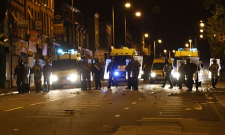Riot police in Toxteth